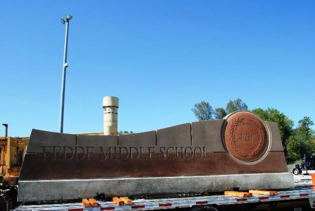 Custom Monument Sign with Logo - Fedde Sports Complex - Hawaiian Gardens, CA