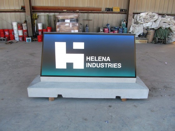 Custom Precast Monument Sign with Airbrush Paint