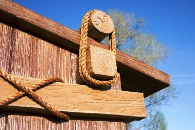 Custom Woodgrain Monument Sign - Tish Tang - Hoopa, CA