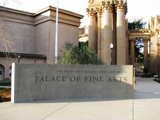 Custom Radius Monument Sign - Palace of Fine Arts - San Francisco, CA