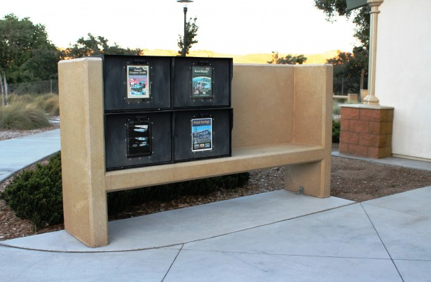 Precast Newspaper Rack Holder - Camp Robert Rest Stop Area, CA
