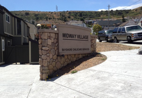 Midway Village Monument Sign