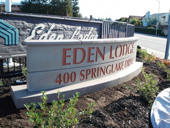 Monument Sign - Eden Lodge - San Leandro, CA