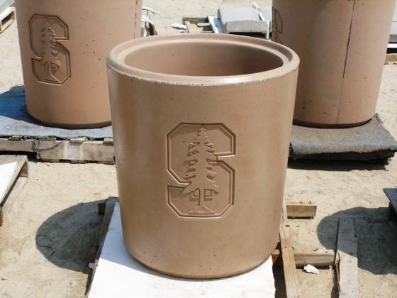 Custom Precast Receptacle - Stanford University, CA - Universal Precast Concrete, Inc.