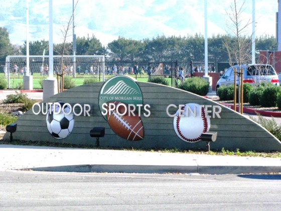 Custom Monument Sign - Morgan Hill Sports Center - Morgan Hill, CA