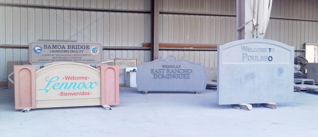Custom Precast Monument Signs - Universal Precast Concrete, Inc.