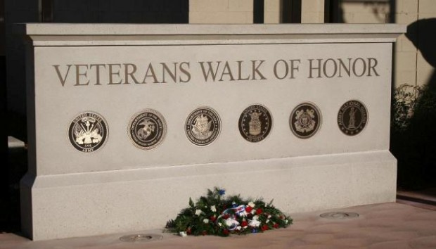 Monument Sign - Veterans Walk of Honor - Anderson, CA