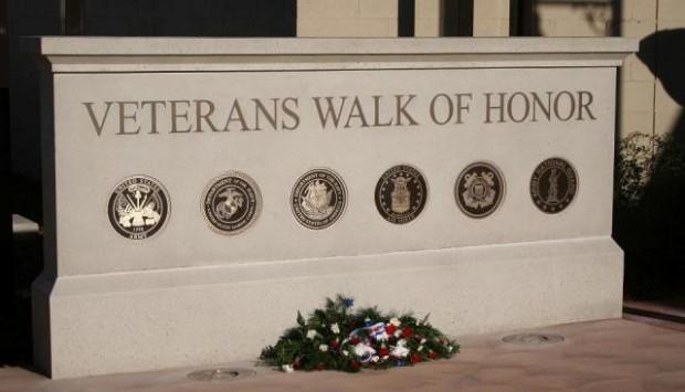 Monument Sign - Veterans Walk of Honor - Anderson, CA