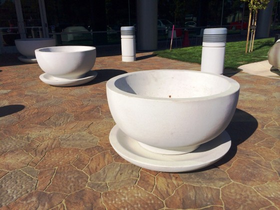 Precast Concrete Planter with Saucer