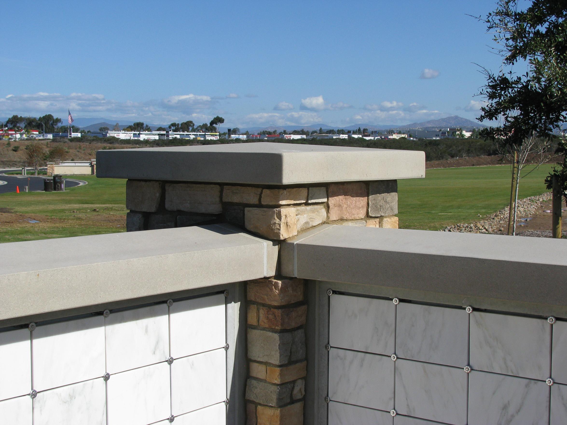 Precast Concrete Columbarium Caps